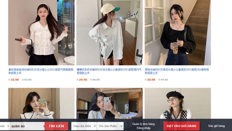 Có nhiều link shop hàng quần áo giá tốt, chất lượng trên Taobao