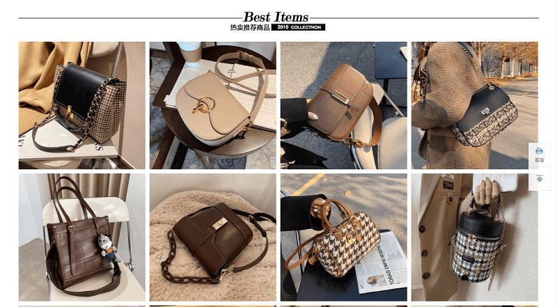 Túi xách là mặt hàng được nhiều nữ giới yêu thích trên các trang TMĐT Trung Quốc