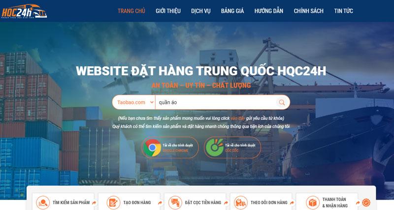 Website tìm kiếm, đặt hàng và theo dõi lộ trình hàng hóa dễ dàng