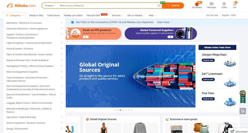 Website của Alibaba.com